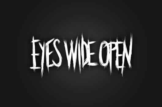 Handritad logotyp för Eyes Wide Open Karlstad
